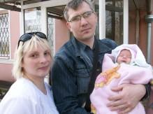 В семье Коркуновых появилась на свет малышка Софья